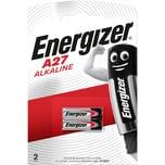 Energizer Batterie A27 Alkali Mangan Nr. E301536400. 12V. PA= 2Stk