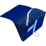Herlitz Fächermappe dunkelblau A4 Nr. 11411261. 12 Fächer. Recycling PP