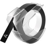 Dymo Prägeband 520109 selbstklebend Kunststoff 9mmx3m. glänzend schwarz