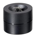 Maul Klammernspender mit Magnet Kunststoff rund 6cm schwarzgefüllt