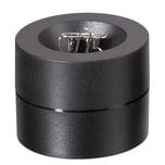 Maul Klammerspender Maulpro schwarz Nr. 3012390. mit Magnet. Ø 7.3x6cm