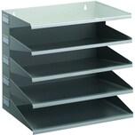 Durable Sortierstation A4 Belegfach Nr. 3360-10 5 Fächer Metall grau