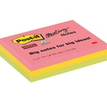Post-it Haftnotiz Meeting Notes 203x152mm farbig sortiert Nr. 8670-3SS-EU. 3 Block à 70 Blatt