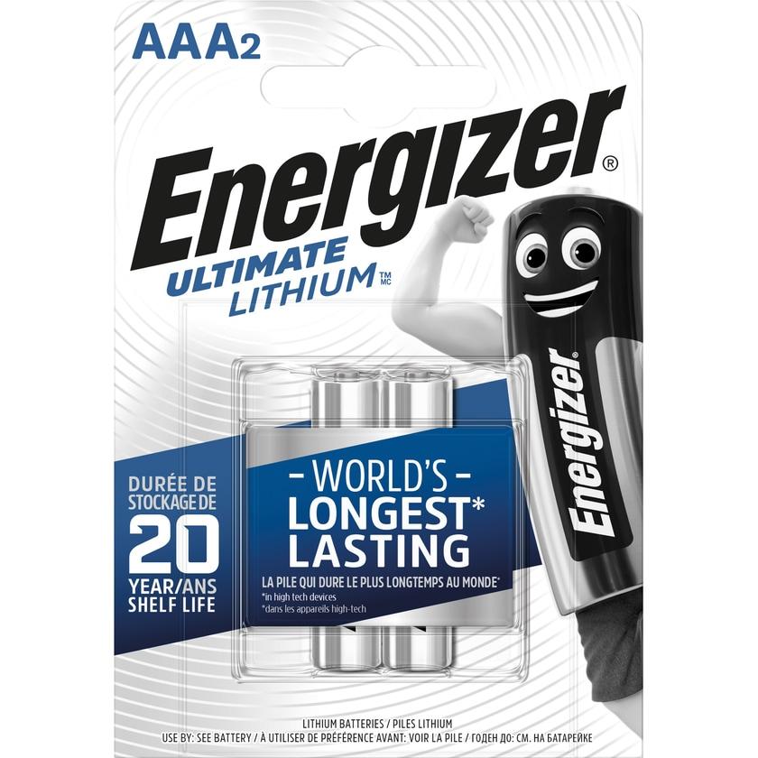 Energizer Batterie Ultimate Lithium Aaa Nr. 639170 15V L92 1.250Mah 2Stk