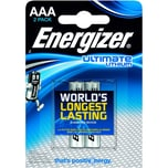 Energizer Batterie Ultimate Lithium Aaa Nr. 639170 15V L92 1.250Mah 2Stk