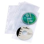 Durable CD Hülle für 4 CD's abheftbar Nr. 5282-19 PA 5 Stk Cover light