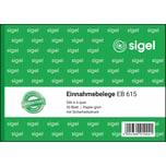 Sigel Einnahmebeleg EB615 grün A6 quer 50Bl