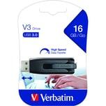 Verbatim USB-Stick V3 16GB grau/schwarz Nr. 49172 USB 3.0 Ultra Speed 267x
