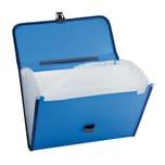 Fächertasche 370003050 DIN A4 PP blau