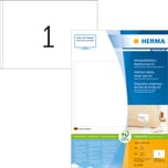 Herma Adress-Etiketten Nr. 8690 weiß PA 400 Stk 1485x205mm A5 bedruckbar