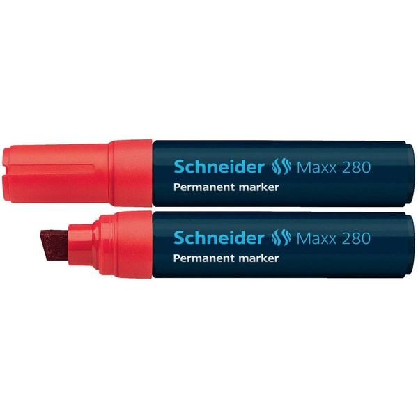 Schneider Permanentmarker Maxx 280 Nr. 128002 rot 4-12mm Keilspitze