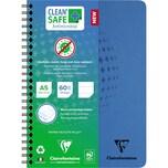 Clairefontaine Spiralbuch CleanSafe A5 liniert blau Nr. 82566C. 60 Blatt