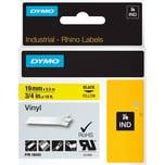 Dymo Rhino Vinylband S0718470 19mmx55m schwarz auf gelb 18433