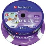 Verbatim DVD+R 85 GB 240Min 8x DL kratz fest 43667 25er Spindel Double Layer