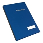 Soennecken Unterschriftenmappe 1491 blau Nr. 1491 20 Fächer Leinenrücken