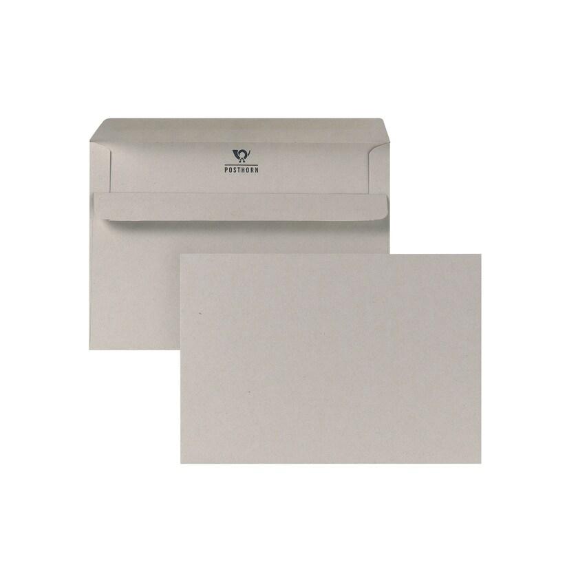 Posthorn öko Briefumschlag C6 grau selbstklebend 75g Nr. 01200481 (1.000 Stück)
