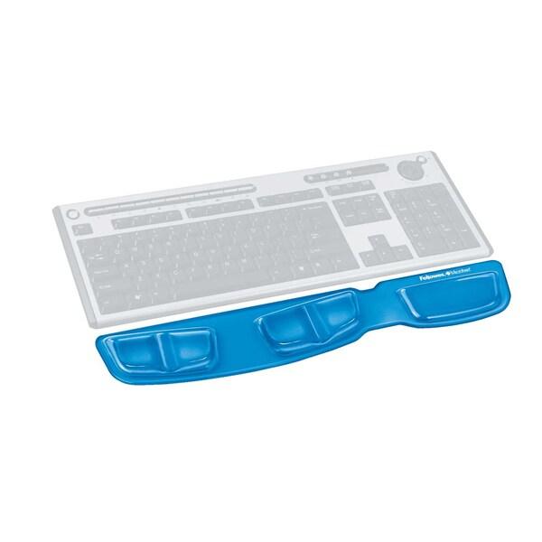 Fellowes Handgelenkauflage Health-V Gel Nr. 9183101 Crystal blau ohne Pad