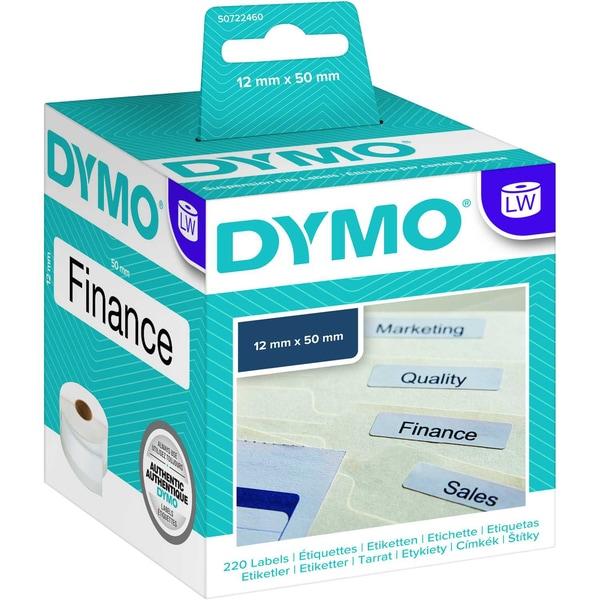 Dymo Hängeablage-Etikett S0722460 weiß PA 220 Etiketten/Rolle 50x12mm