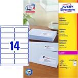 Zweckform Adress-Etikett Nr. L7163-100 PA1.400St weiß 991x381mm bedruckbar