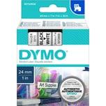 Dymo Schriftbandkassette S0720930 24mmx7m schwarz auf weiß 53713 D1