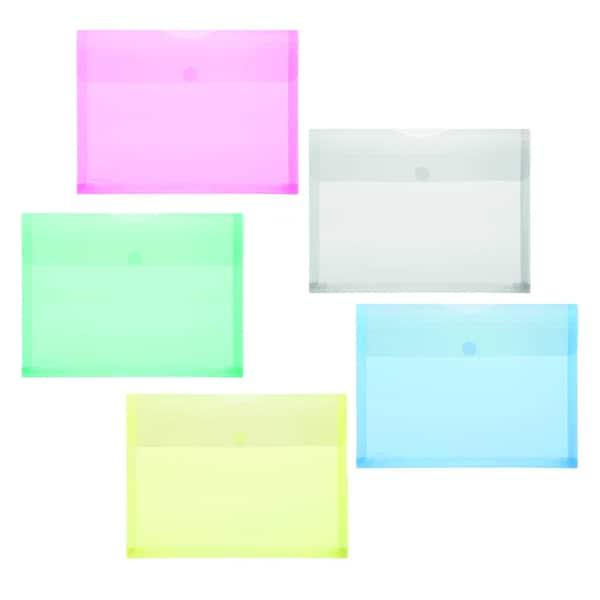 FolderSys Sichttasche A4 PP 5 Farben Nr. 40105-94 PA 10St oben offen