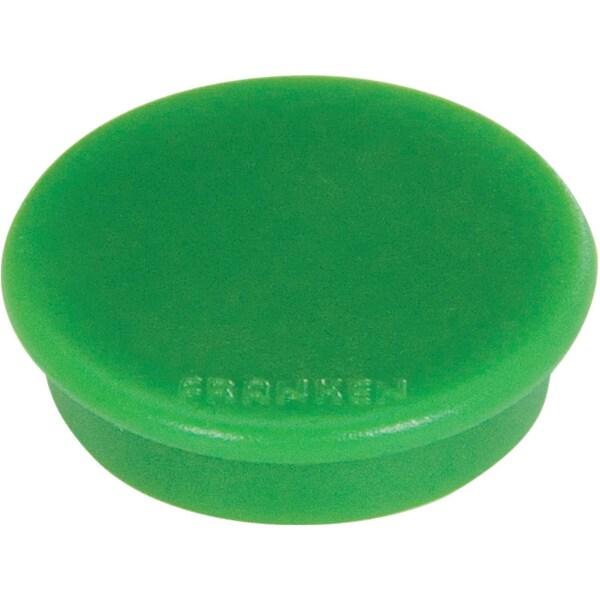 Franken Haftmagnet Ø 24mm grün Nr. HM20 02 PA 10Stk Haftkraft 300g