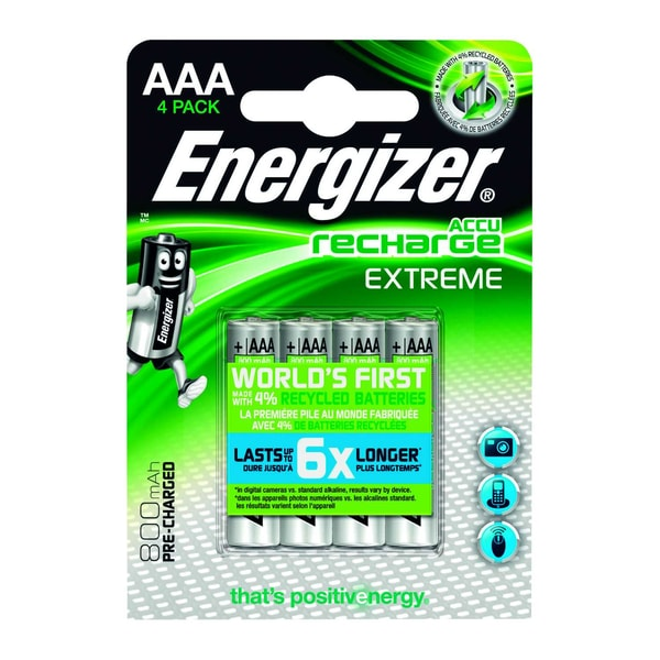 Energizer Akku Recharge Extreme Aaa 12V Nr. E300624400 Hr3 Micro 800Mah4 Stk