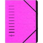 Pagna Ordnungsmappe A4 12 Fächer d.rosa Nr. 40059-34 Pressspan 280g/m²