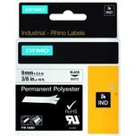 Dymo Rhino Polyesterband S0718240 9mmx55m schwarz auf weiß 18482