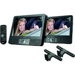 Lenco DVD-Player-Set MES-405 2228244 2x9Zoll KFZ-Halterung sw