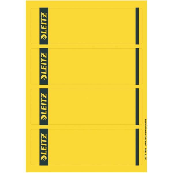 Leitz Rückenschild breit/kurz gelb Nr. 1685-20-15 PA 100St sk bedruckbar