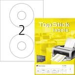 Herma CD/DVD Etikett TopStick Ø 117mm weiß matt Nr. 8696. PA= 200 Stück