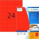 Herma SuperPrint Etiketten Nr. 4406 rot PA 2.400 Stk 70x37mm Signalcharakter