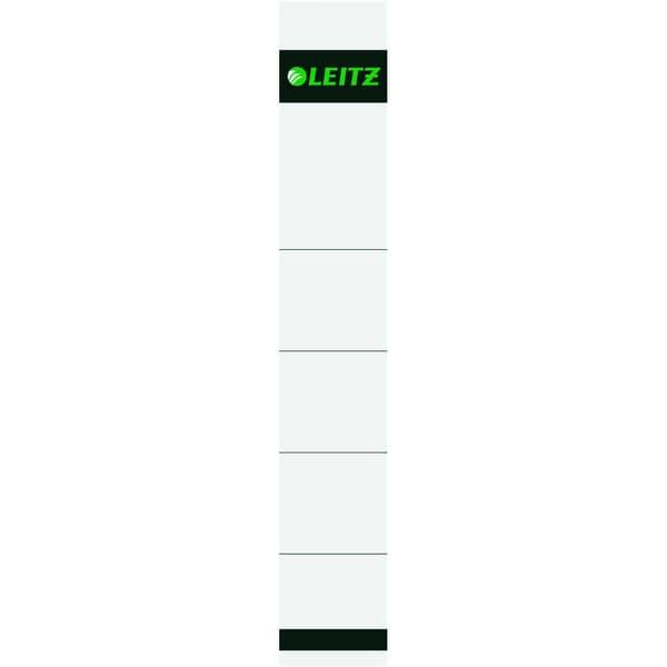 Leitz Rückenschild schmal/kurz grau Nr. 1608 PA 10St grau beschreibbar