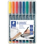 STAED Lumocolor permanent M 8-er Etui Nr. 317 WP8 Universalstift 1mm sortiert