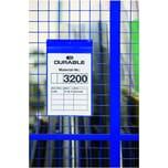 Durable Magnettasche Neodym A4 hoch Nr. 1747-07 blau PA 10Stk