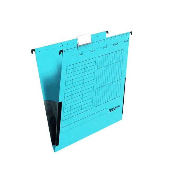 Falken Hängetasche UniReg A4 blau Nr. 80002561 230g Leinenfrösche