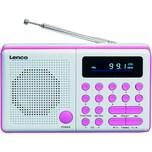 Lenco FM-Radio MPR-034 2348866 Stationstasten Akku pink