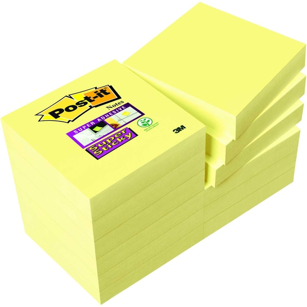 Post-it Haftnotiz Super Sticky 48x48mm Nr. 62212SY gelb PA 12 Block