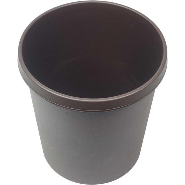 Helit Papierkorb braun 18 Liter Nr. H6105875 mit Griffrand Höhe 32cm