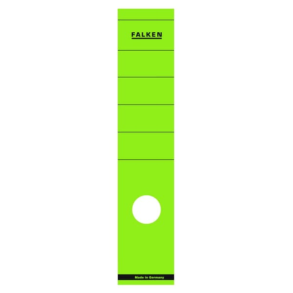 Falken Rückenschild breit/lang grün Nr. 11286903 PA 10 Stückselbstklebend