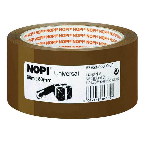 Nopi Packband 50mm x 66m braun Nr. 57953 Reißfestigkeit mittel