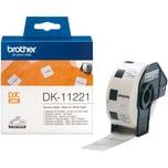 Brother EndlosetikettenrolleDK11221 23x23mm Papier quadrat. weiß