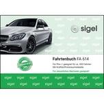 Sigel Fahrtenbuch A6 quer PKW Nr. FA614 40 Blatt mit Klammerheftung