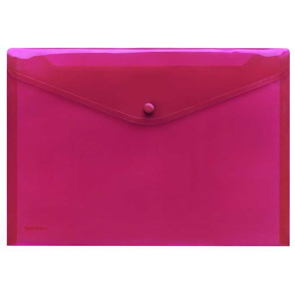 FolderSys Sichttasche A4 quer PP rot Nr. 40111-84 PA 10St PP Druckknopf
