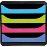 ExacomPTA Schubladenbox BIG-BOX 1928 A4+ 4 farbige Schübe Nr. 3101928D. 4 Schübe farbige