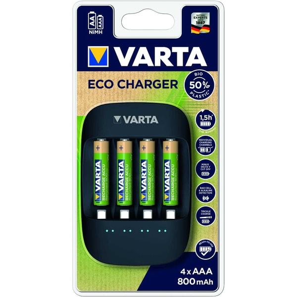 Varta Ladegerät Eco Charger 4x AAA 56813 800mAh at