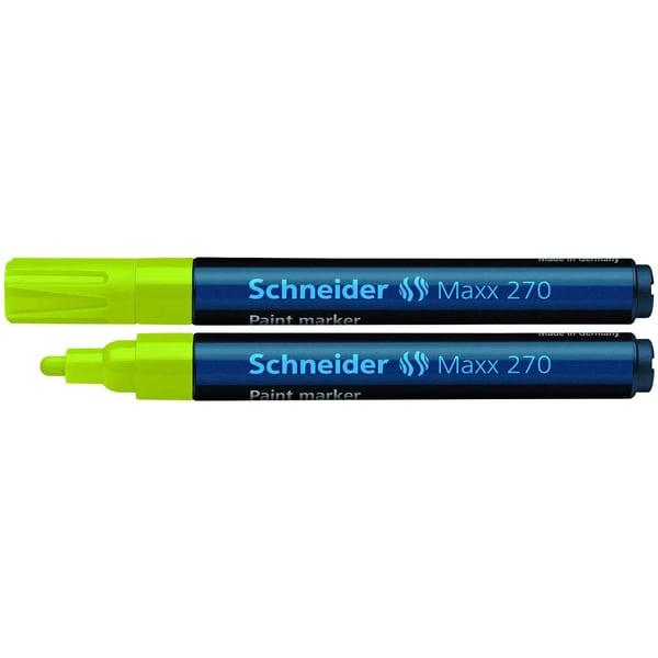 Schneider Lackmarker Maxx 270 Nr. 127005 gelb 1-3mm Rundspitze