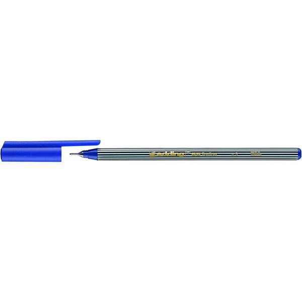 Edding 55 Fineliner finepen blau ca. 03mm Spitze metallgefasst