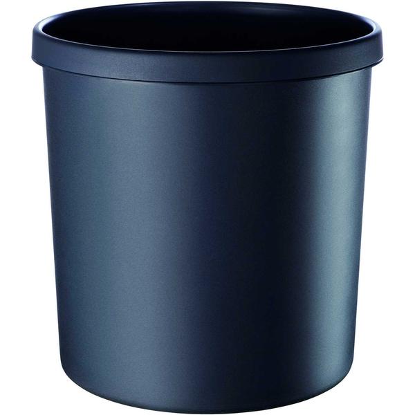 Helit Objektpapierkorb schwarz 18 Liter Nr. H6106495schwer entflammbarHöhe31cm